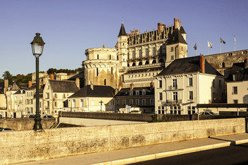 Amboise Chateau. France. Chateau of the Loire Valley.