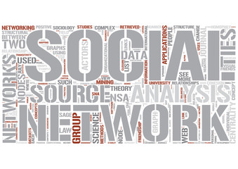 Social network analysis Word Cloud Concept