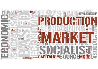Socialist economics Word Cloud Concept