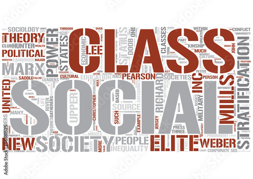 Social stratification Word Cloud Concept