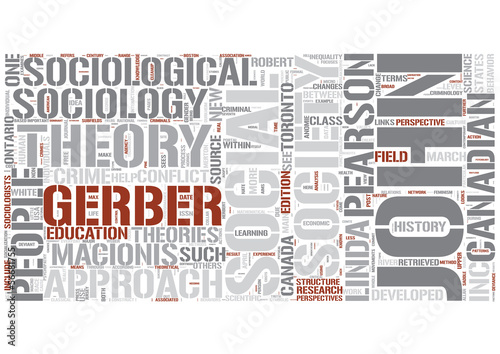 Sociological theory Word Cloud Concept