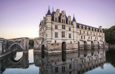 Chateau de Chenonceau. France. Chateau of the Loire Valley.