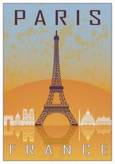 Paris vintage poster