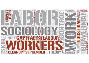 Sociology of work Word Cloud Concept
