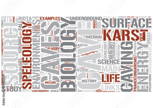 Speleology Word Cloud Concept