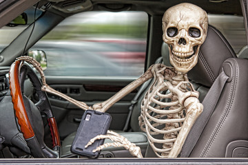 Skeleton Texting and Driving