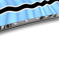 Designelement Flagge Botswana