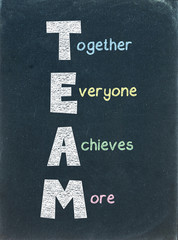 """TEAM"" - Word on Blackboard (Together Everyone Achieves More)"