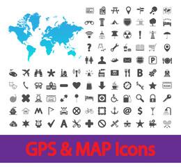 Navigation map icons.