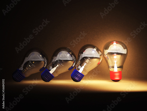 Light bulb is ideas
