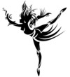 Abstract dancing girl. Vector