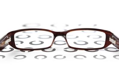 Brille auf Sehtest