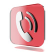 Red phone icon