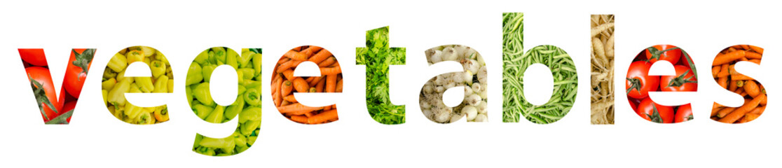 Fresh Healthy Vegetables Word