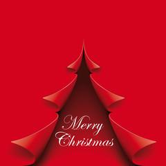 rote Weihnachtskarte Merry Christmas