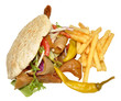 Doner Kebab And Fries