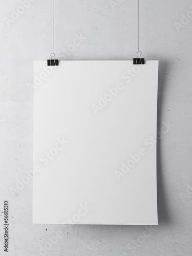 Foto op Plexiglas Wand paper on white wall