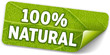Label mit Blattstruktur 100% Natural