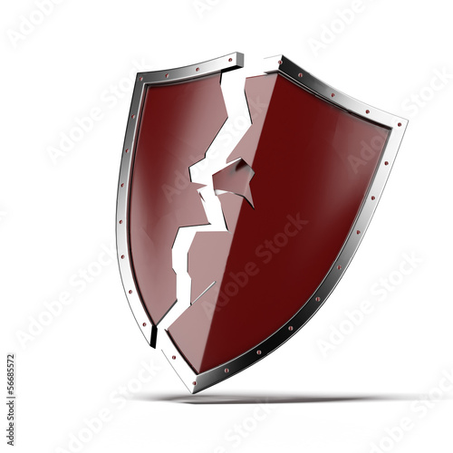 Broken security shield