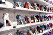 Leinwandbild Motiv Background with shoes
