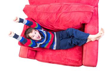 Kid Feeling Cheerful