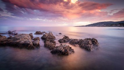 Sainte Maxime sunset beach