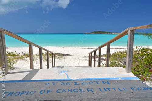 Tropic of Cancer mark at Little Exuma, Bahamas