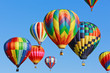 canvas print picture - colorful hot air balloons