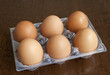 Six heg eggs