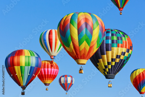 canvas print picture colorful hot air balloons