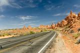 Curving Desert Road poster