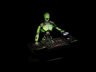 Robot DJ - Green 3
