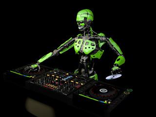 Robot DJ - Green 2