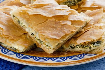 OPA! Spanakopita - Greek Spinach Pie in Close