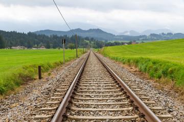 Eisenbahnschienen im Allgäu