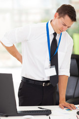 businessman having lower back pain