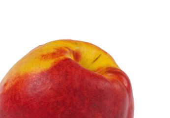 Close up of a ripe nectarine