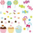 カラフルなキャンディやお菓子 - 56692173