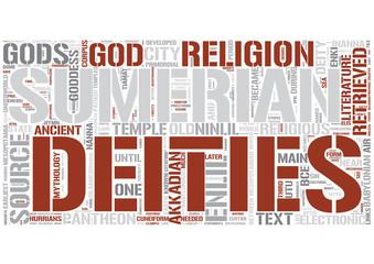 Sumerian religion Word Cloud Concept