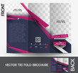 Tri-fold Fashion Brochure Design Vector Illustartion.