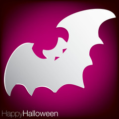 Bat concave Halloween card in vector format