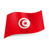 State flag of Tunisia.