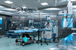 canvas print picture - Operating room in cardiac surgery