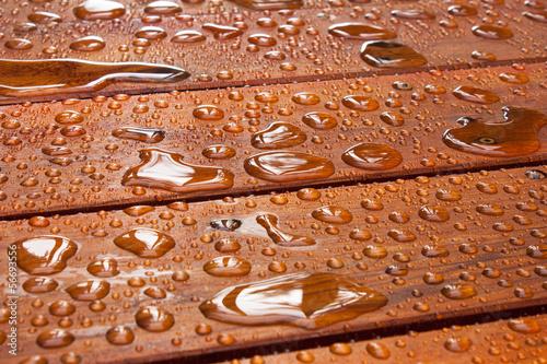 Leinwanddruck Bild Summer rain on deck