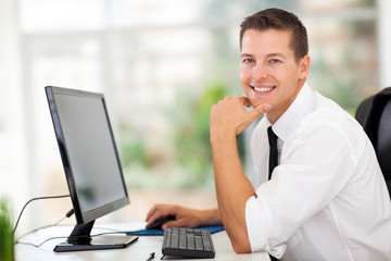 businessman sitting in modern office
