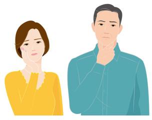 疑問を感じるシニア夫婦