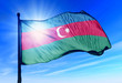 Azerbaijan flag waving on the wind