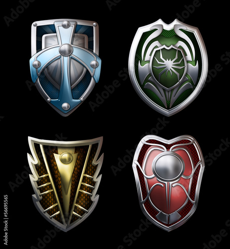 four steel shields