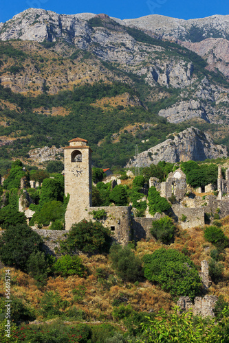 Ruins of ancient town of Bar in Montenegro - 56695714