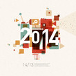 2014 colorful graphic design background
